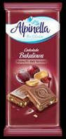 Молочный шоколад Alpinella bakaliowa peanuts and raisins 90 гр