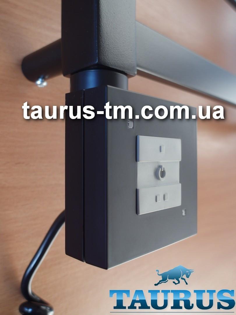 Чёрный квадратный ТЭН TERMA KTX1 Black с управлением на кнопках 2 режима + LED, Польша. Мощность:120-1000W