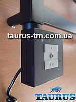 Чёрный квадратный ТЭН с управлением на кнопках 2 режима, Польша. Съёмный регулятор. Мощность:120-1000Вт.