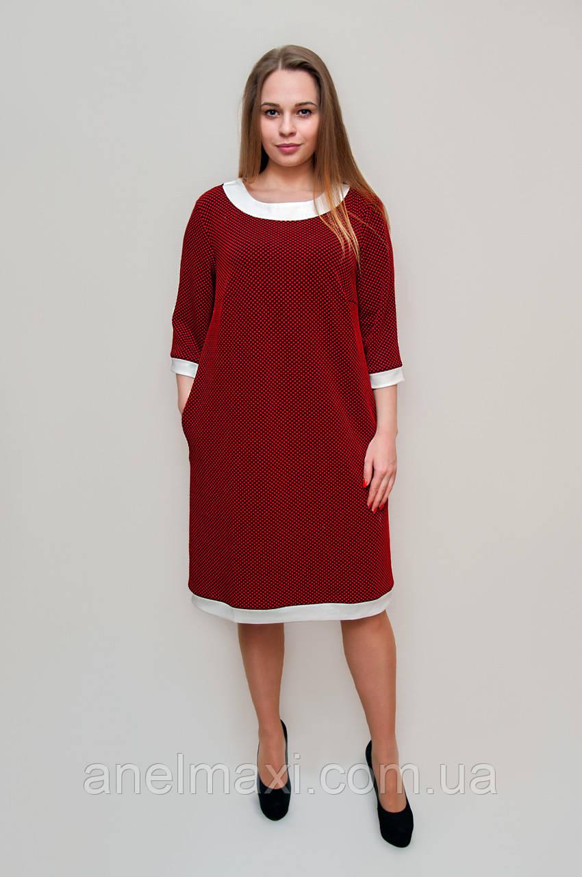 Платья красные в белый горошек фото