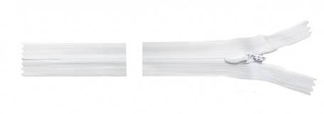 Молния потайная 18см белая, фото 2
