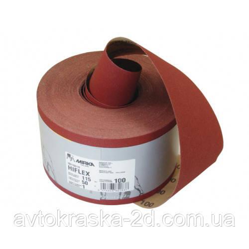 Шлифбумага красная MIRKA Hiflex Р 60 рулон (115мм*50м.)