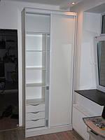Шкаф-купе 2-х дверный с ящиками. купить в кредит в киеве