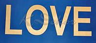Буквы  Love заготовка для декора