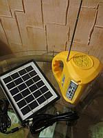 Кемпинговый фонарь 7655 на солнечной батареи+ USB +FM радио, Оптом в Харькове