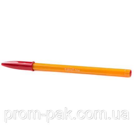 Шариковая ручка Bic orange красная, фото 2