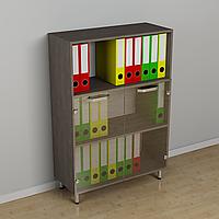 Шкафы для офиса фасад стекло 600*330*1156h