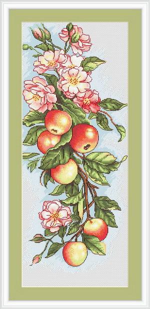 """Набор для вышивания нитками  """"Композиция с яблоками"""""""