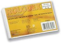 Сменные карточки белые в блистере 100шт ROLODEX 67570