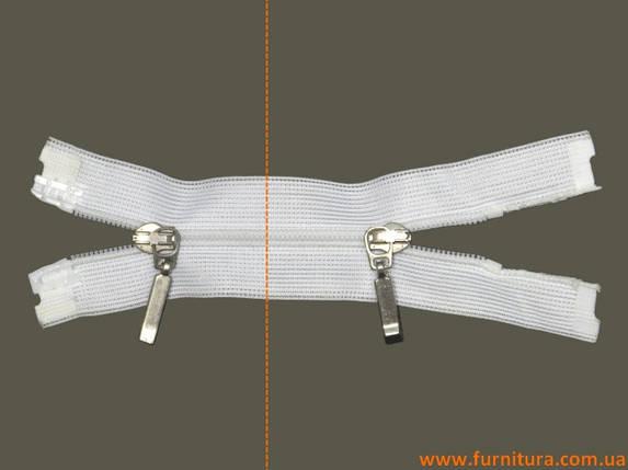 Молния спиральная, белая, 2 бег., фото 2