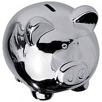 Свинка-копилка из хром-керамики