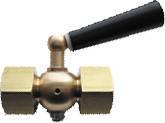 Кран трехходовый для манометра с ручкой M20x1,5-G1/2 (латунь)