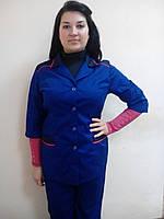 Костюм-клининг, комплект для горничной, куртка и брюки для уборщицы