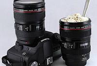Термокружка объектив Caniam, чашка-термос, кружка в виде объектива, кружка фотообъектив, чашка объектив