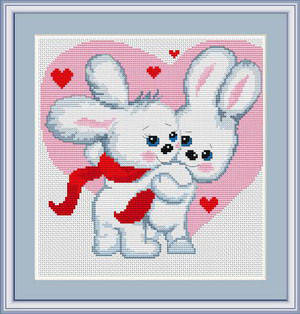"""Набор для вышивания нитками  """"Зайчишки"""", фото 2"""