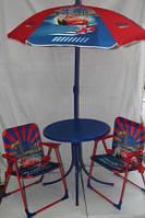 Детская мебель (зонт + стол + 2 кресла)