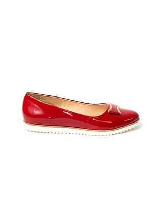 Лаковые красные  балетки из натуральной кожи ТМ ROSS., фото 2