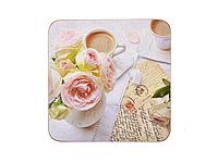 Подставки под горячее 11*11 см (набор 4 шт) Розы+рафинад