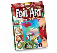 Набор креативного творчества аппликация цветной фольгой FOIL ART,  FAR-01-02