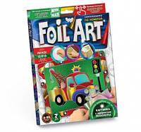 Набор креативного творчества аппликация цветной фольгой FOIL ART,  FAR-01-04