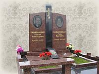 Памятники для двоих из гранита  (букинское габро, лезники) (Образцы №454)