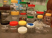 Пластиковая банка с крышкой   90,100,150,180,200,250,450,500,650 мл.