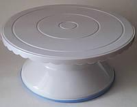 Тортовница крутящаяся для работы с тортом, диам 280мм, Н120мм на ножке пластиковая Empire 8993