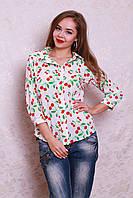 Универсальная блуза-рубашка из креп-шифона на лето