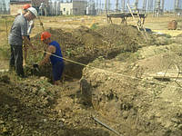 Разработка грунта вручную (траншея, ленточный фундамент)