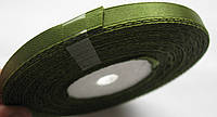 Лента ширина  0,6 мм. атласная катушка 32,8 м\36 ярдов оливковая