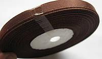 Лента ширина  0,6 мм. атласная катушка 32,8 м\36 ярдов коричневая