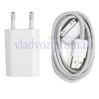 Зарядное + USB кабель Iphone 2 3g 4 Ipod IPad 2в1