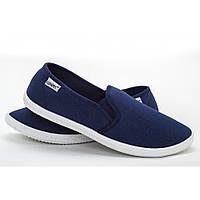 Мужские мокасины синие (Код: КМ-032)