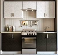 Эконом кухня Киев - фасад Сакура белая/черная