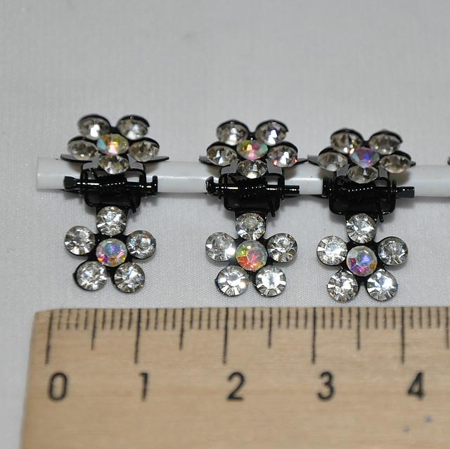 Крабики маленькие тропиканки со стразами (12 шт)