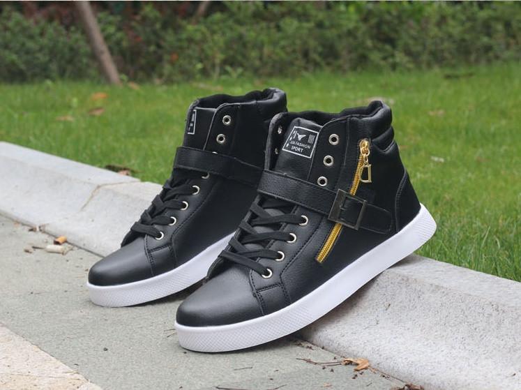 61e1d273293 Модные мужские высокие кроссовки. Два цвета  черный и белый - купить ...