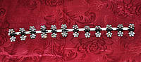 Крабики для волос - цветочки на черном металле (12 шт)