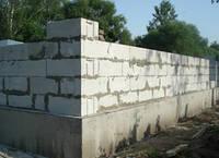 Кладка стен (газбетон)