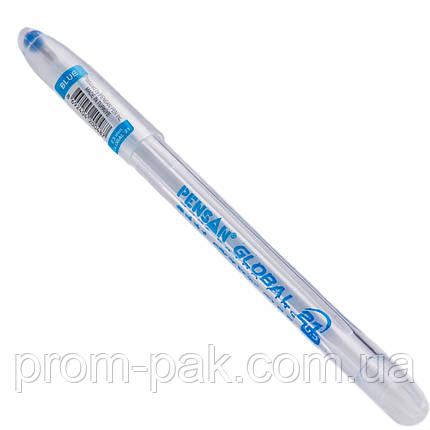 Шариковая ручка Global синяя, фото 2