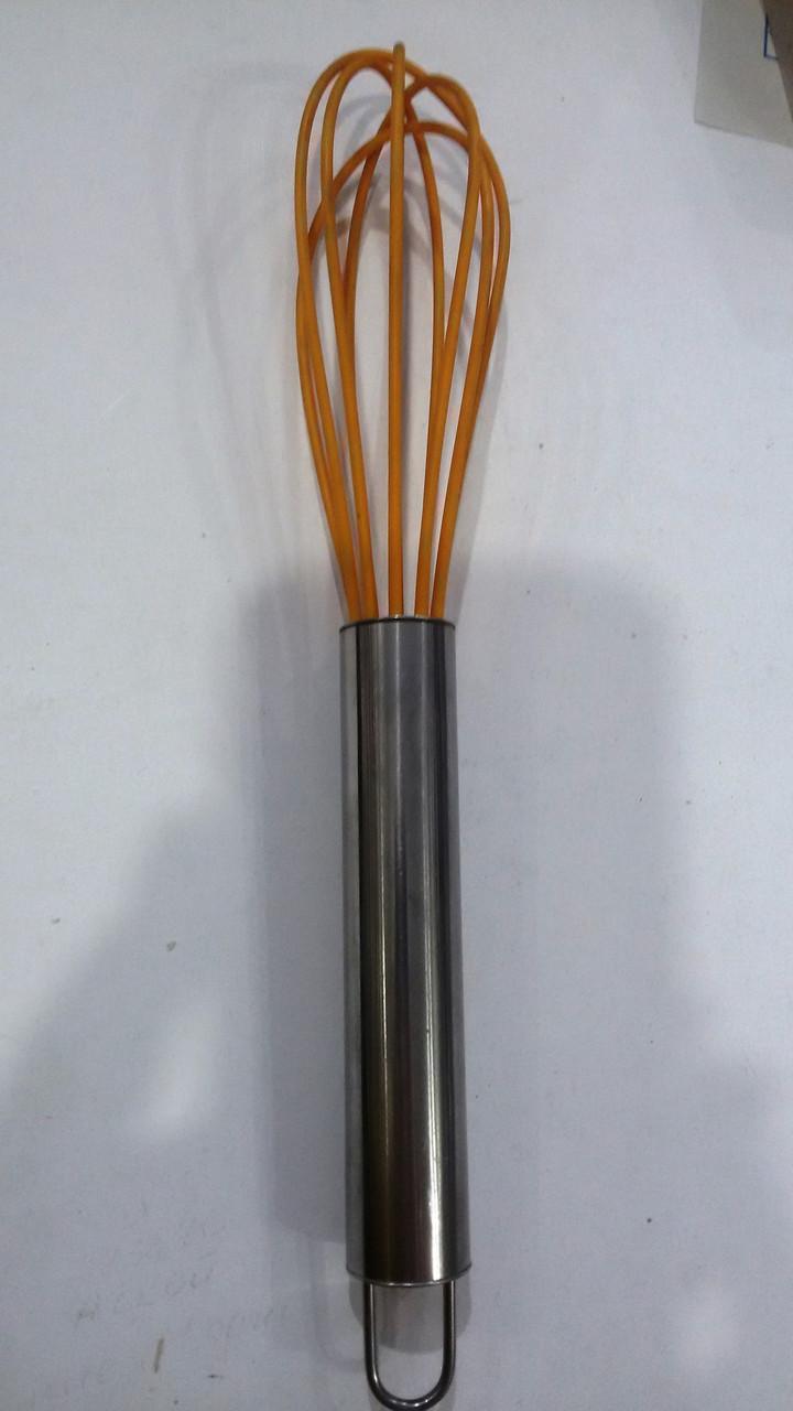 Венчик силиконовый с металлической ручкой