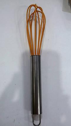 Венчик силиконовый с металлической ручкой, фото 2