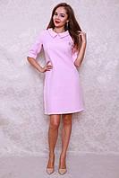 Обалденное молодежное платье прямого фасона с воротничком