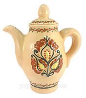 Чайник 1100 мл глиняний (глазурований) в асортименті