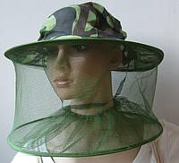 Шляпа пчеловода маска лицевая защитная антимоскитная для охоты, рыбалки, пасеки от пчел