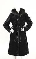 Шуба из мутона с капюшоном длинная с норкой 1930, фото 1
