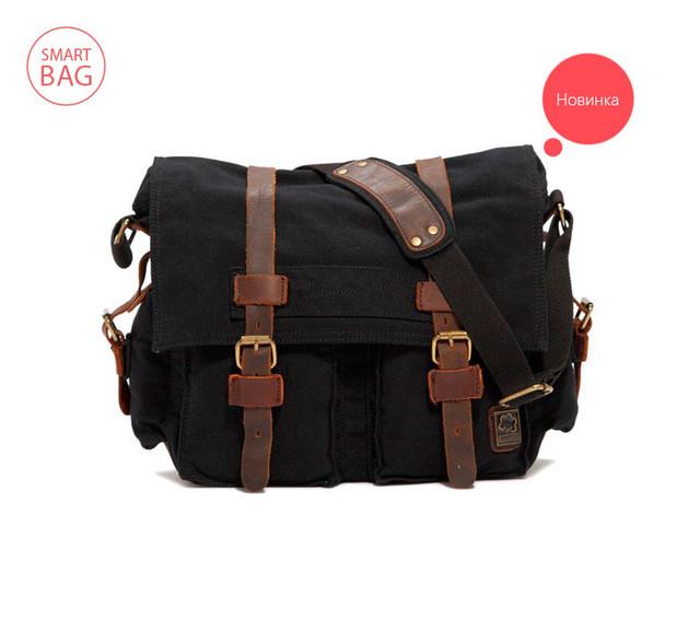 Молодежная мужская сумка Scotton | черная.