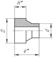 Буртовая втулка ПЭ укороченная стыковая
