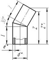 Отвод ПЭ сегментный стыковой 30*