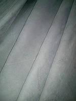 Натуральная кожа Нубук серый низкосортовой, фото 1