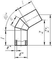 Отвод ПЭ сегментный стыковой 60*